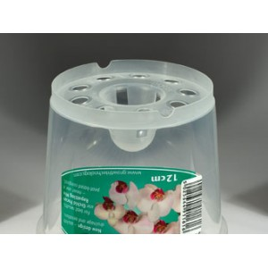 12 cm Clear Air Cone Pot GTech - Per 1-Orchid Pots & Containers-1.19