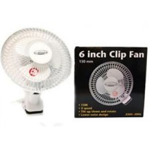 "6"" Clip On Fan By Growth Technology-Semi-Hydro-Hydroponic products-10.99"