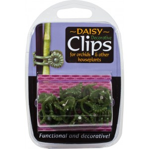 Green daisy clips x 12 in PACK-Tools & Accessories-3.99