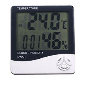 HTC-1 LCD Digital High/Low Temperature Humidity Meter Hygrometer Alarm LARGE DISPLAY-Tools & Accessories-8.99