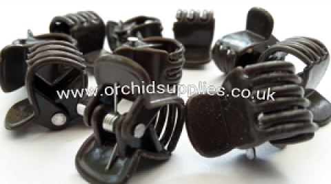 Orchid Clips (size M, brown) x10