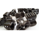 Orchid Clips (size S, brown) x10
