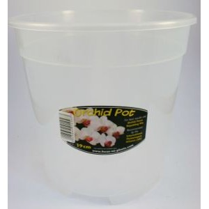 19 cm Clear Orchid Pot- 5 PACK Growth Tech-Orchid Pots & Containers-6.00