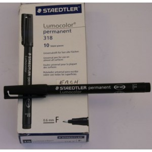BLACK Permanent label fine marker pen 0.4mm-Tools & Accessories-2.50